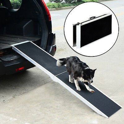 PawHut Folding Pet Ramp Dogs Stairs Steps Portable Anti-slip Handle Travel 135kg