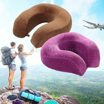 Memory Foam U Shape Car Pillow Neck Head Support Travel Home Office Cushion Soft