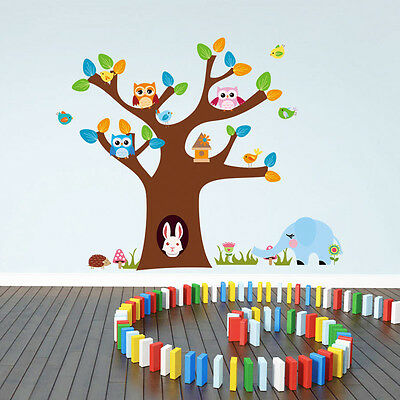 Owl Birds Tree Vinyl Home Decal Decor Removable Wall Stickers Kids Room