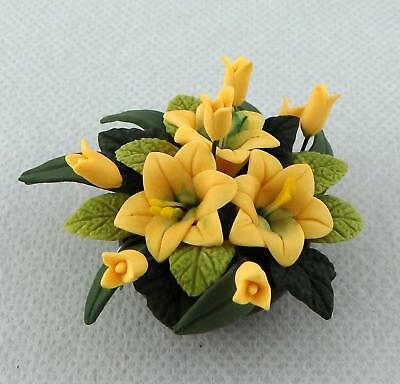 Dolls House Miniature Accessory Table Centrepiece Flower Display in Bowl A