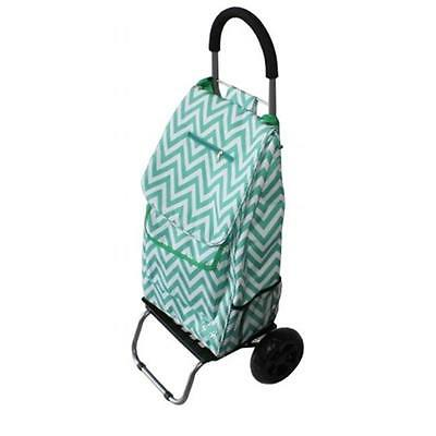 Dbest Products 01-584 Trendy Trolley Dolly Green Chevron