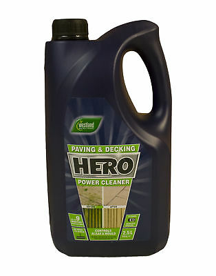 Hero Patio Decking Path Drive Fence Cleaner Mould Algae Moss Killer Remover