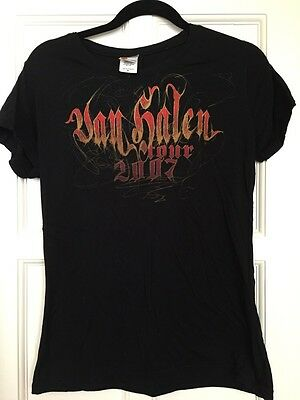 Van Halen 2007 Tour T Shirt Ladies Rare XL