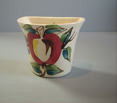 Rare WALL POCKET made by PURINTON POTTERY Apple