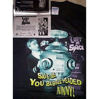 Jonathan Harris Lost in Space Dr Smith Limited T-Shirt & Autographed Certificate
