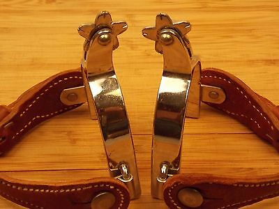 Vintage HEAVY MADE CROCKETT (CR) RENALDE Cowboy SPURS