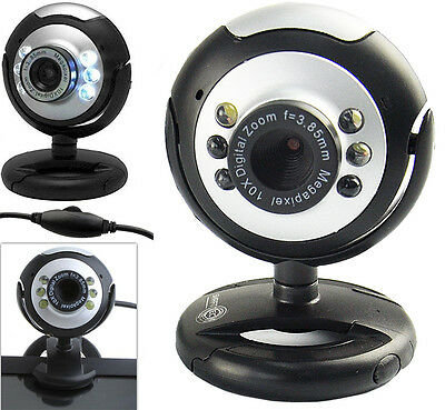 USB 6 LED 50 Mega Pixel HD Webcam Camera With MIC Microphone For PC Laptop Skype