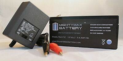12V 1Amp Charger Mighty Max 12V 7.2AH Battery for HID Rechargeable Lantern