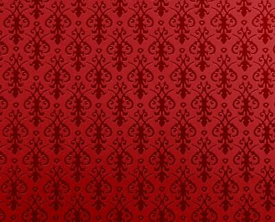 Dolls House Miniature Print 1:12 Victorian Red on Red Arabesque Wallpaper