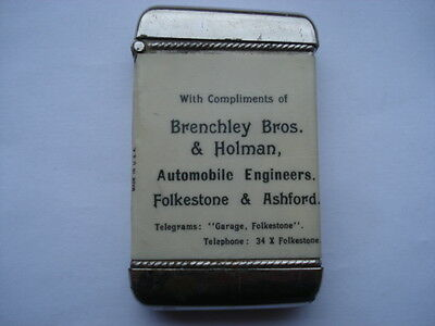 Scarce C1910 Brenchley Bros&holman Automobile Engineers Folkstone Adv Vesta Case