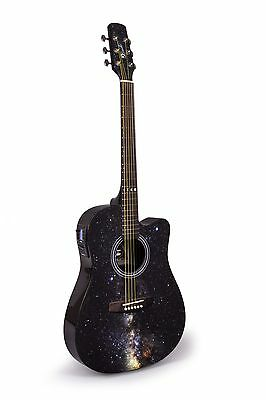 Lindo Galaxy Slim Electro-Acoustic Guitar with Integrated Tuner/Preamp & Gigbag