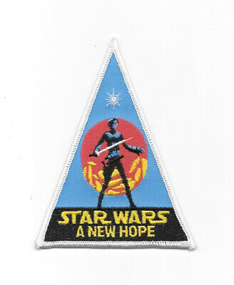Star Wars: A New Hope Movie Lightsaber Logo Embroidered Patch NEW UNUSED