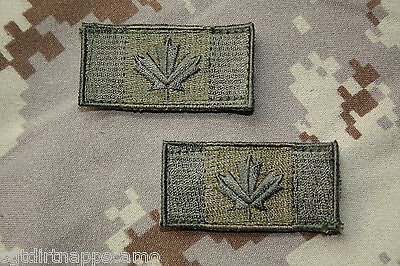Canadian Forces Subdued Shoulder Patch Flags -small size- Olive Drab O.D