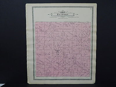Wisconsin, Waushara County Plat Map, 1906 #16 Richford