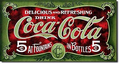 Delicious & Refreshing  Drink Coke 1900's Coca Cola  2 by 3 Inch Sign Magnet