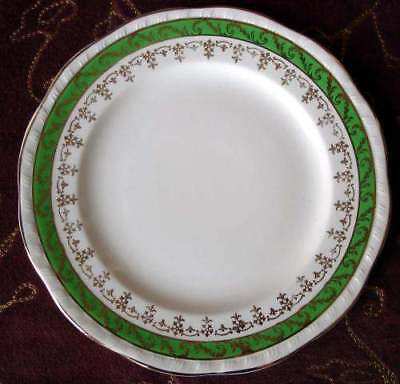 "ALFRED MEAKIN 7"" PLATE, MEA178, Green, Gold"