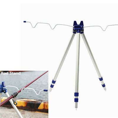 Aluminum Alloy Telescopic Fishing Rods Tripod Stand Rest Holder for Sea Beach