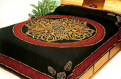 TAPESTRY Hanging CELTIC KNOT Wall Decor SPREAD TIE DYE FABRIC Tablecloth Hang
