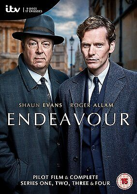 ENDEAVOUR Stagioni 1-4 Serie Complete+Film Pilota BOX 15 DVD in Inglese NEW .cp.