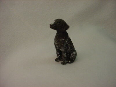 GERMAN SHORTHAIR POINTER puppy TiNY DOG Figurine HAND PAINTED MINIATURE MINI Sm
