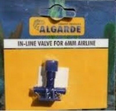 NEW ALGARDE INLINE VALVE FOR AQUARIUM 6 mm AIR LINE 5019614425098