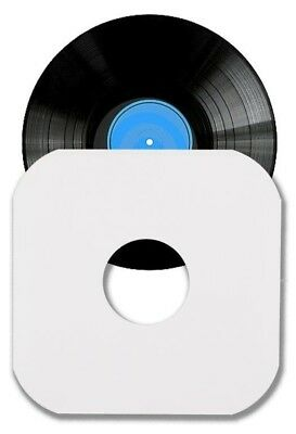 "100 12"" LP / Album White Paper Vinyl Record Sleeves / Protectors - Heavy Duty"
