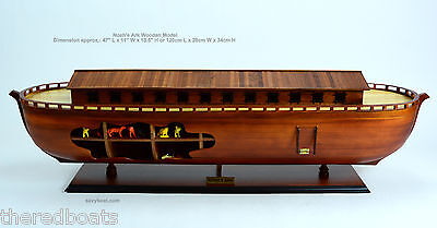 "Noah's Ark Wooden Ship Model 47"" - Ready to display"
