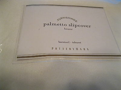Pottery Barn Furnishings Palmetto Bar Stool Replacement Slipcover Chair Natural