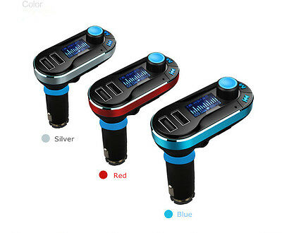 Dual USB Car Cigarette Lighter Charger AUX FM MP3 Player For iPhone Samsung US