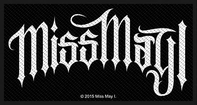 MISS MAY I - Patch Aufnäher logo 10x5cm