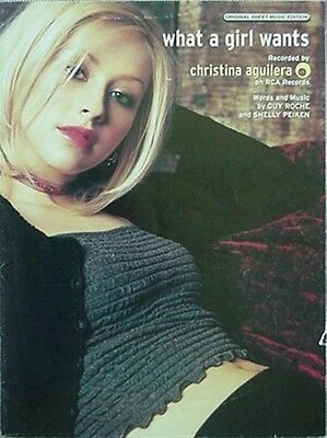 Christina Aguilera Sheet Music, 1999 - What A Girl Wants
