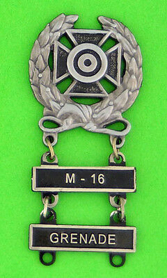 army drivers badge and marksmanship badge placement