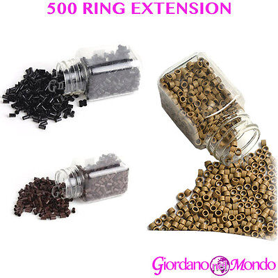 MICRORING EXTENSION RING 500 PZ PER CAPELLI DA 5mm PROFESSIONALE  PARRUCCHIERE