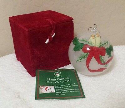 Hand Painted Glass Christmas Ornament - in Box