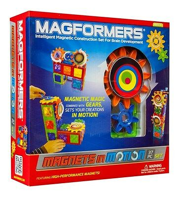 Magformers 63203 Magnets in Motion 37 Piece Set Magnetic Building Shapes