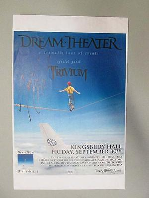 Dream Theater John Myung Signed Concert Poster Autograph