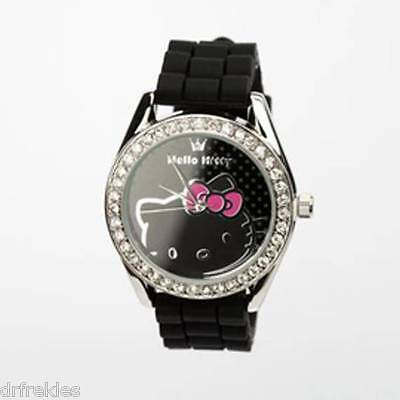 New Hello Kitty Rhinestone Wristwatch