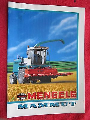 Vintage Mengele Mammut Forage Harvester 20 Page Brochure (French Text)