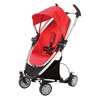 Quinny Zapp Xtra Folding Seat Stroller in Rebel Red With Zapp Rain Cover New!!