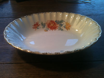 Beautiful Vintage W.s. George- Bolero Floral W/gold Oval Vegetable Bowl-9.5""