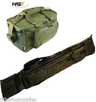 Ngt Carp Fishing Carryall Bag 537 + 2+2 Rod And Reel Holdall For 12Ft Carp Rods