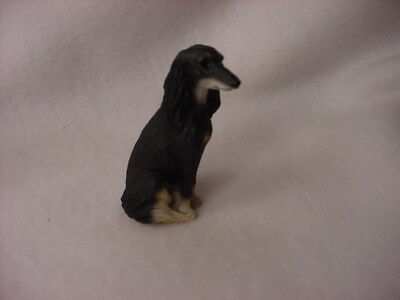 SALUKI puppy TiNY dog FIGURINE resin MINIATURE Mini COLLECTIBLE resin Statue NEW