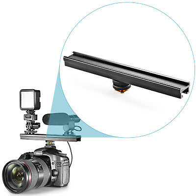 "Neewer Aluminium Alloy 8"" Flash Brackets Extension bar with Cold Shoe for DSLR"
