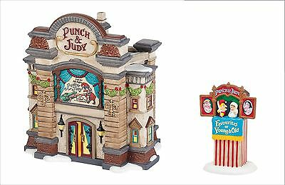 """Dept 56 Dickens Village PUNCH AND JUDY THEATRE & Accessory """"Saturdays With"""" NEW"""