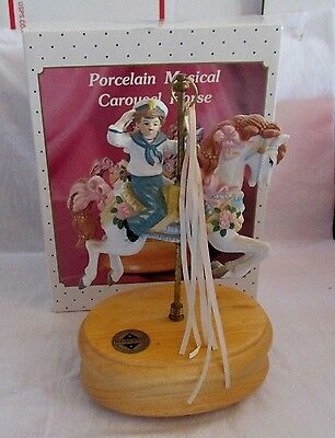 Breckenridge Designs Carousel Horse Bisque Porcelain  Hand Painted