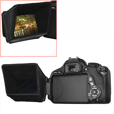 """Neewer 3.5"""" LCD Screen Sun Shield Hood for DSLR Cameras and Camcorders EM#12"""