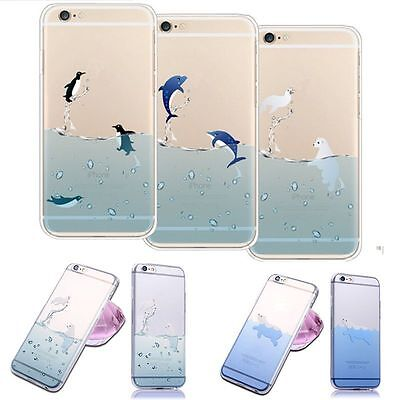 "Cute Clear Ultra Thin Phone Case Cover Skin For Iphone 5/5s 6/6 Plus 4.7""/5.5"""