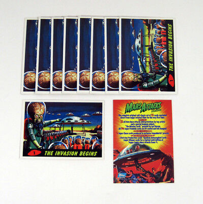 Lot of (10) 1994 Topps Mars Attacks Archives Promo Card (#1) Nm/Mt