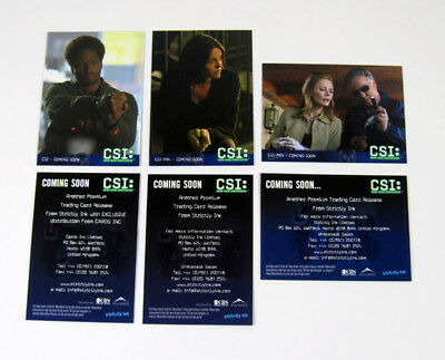2004 Strictly Ink CSI Crime Scene Investigation Series 2 Promo Card Set (3)