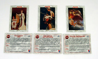 1993 Collect-A-Card The Coca-Cola Collection Series 1 Promo Card Set (3) Nm/Mt